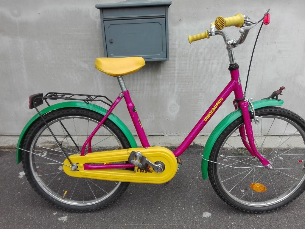DINOSAURUS 20″ kontrafékes kislány kerékpár!