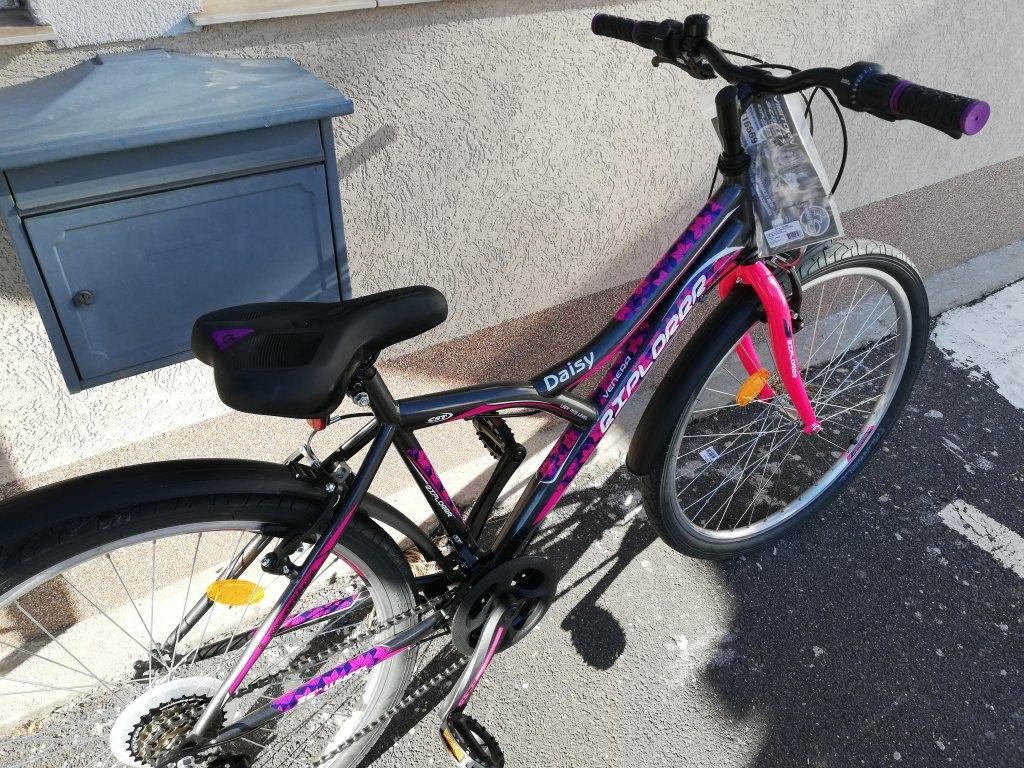 Új Explorer DAISY 26″ Női metál fekete kerékpár!