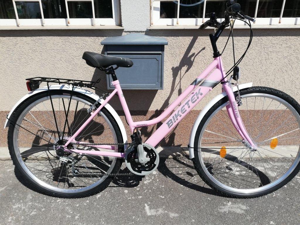 Új BIKETEK MAXWELL 28″ Női ciklámen kerékpár!