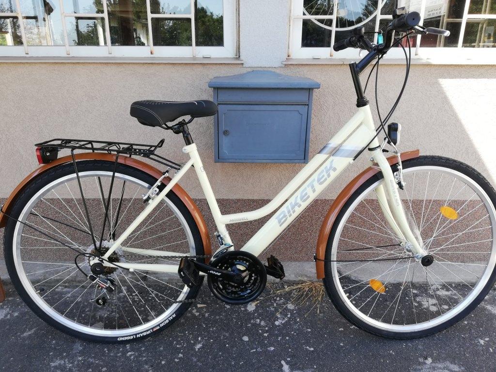 Új Biketek Maxwell 28″ Női krém kerékpár!