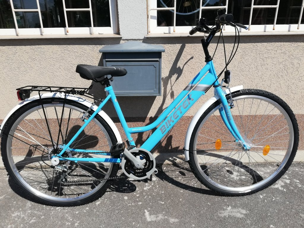 Új Biketek Maxwell 28″ Női kék kerékpár!