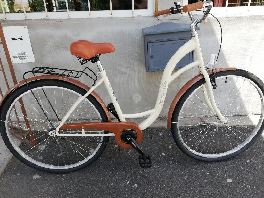 Új Ceassic 28″ Női kontrafékes krém kerékpár!
