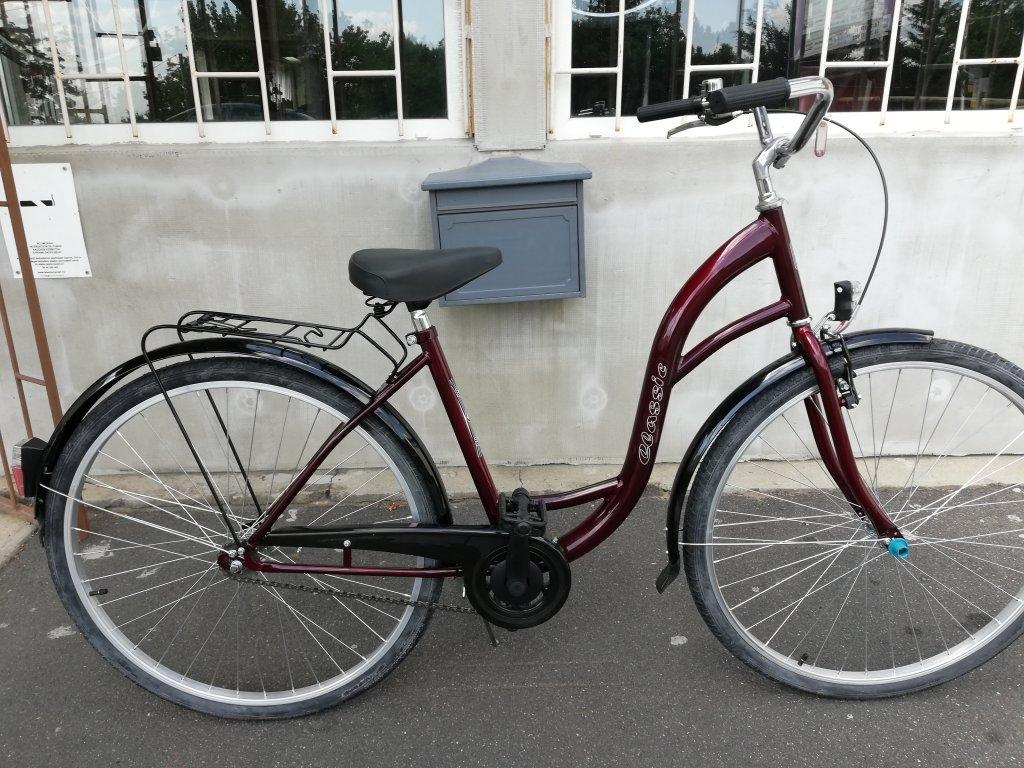 Új Ceassic 28″ Női kontrafékes bordó kerékpár!