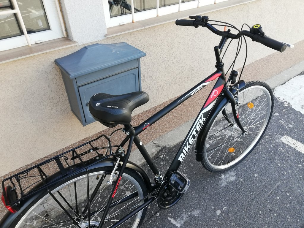 Új BIKETEK MAXWELL 28″ ffi fekete kerékpár!