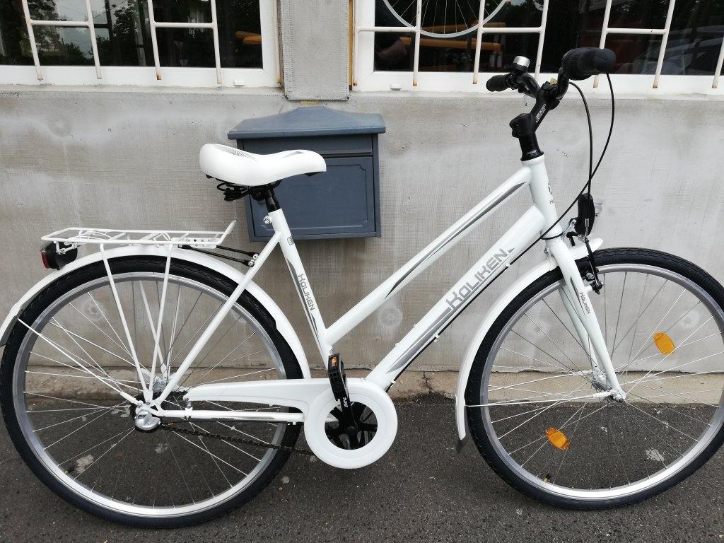 Új KOLIKEN 28″ Nöi agyváltós fehér kerékpár!